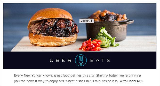 Livraison Uber Eat