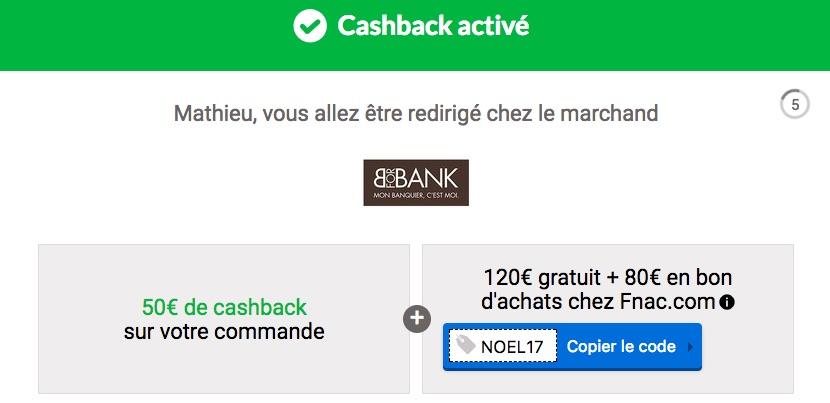 Cashback parrainage BforBank Igraal